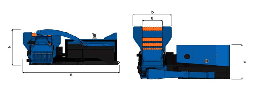 Astilladora móvil Bruks 1006 ST