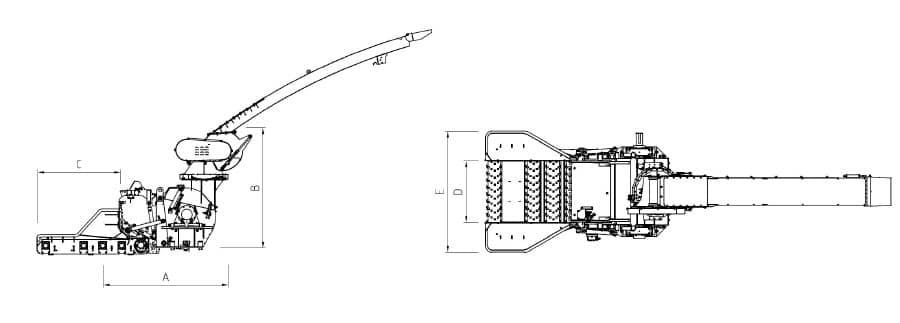 Astilladora móvil Bruks 1006 planos