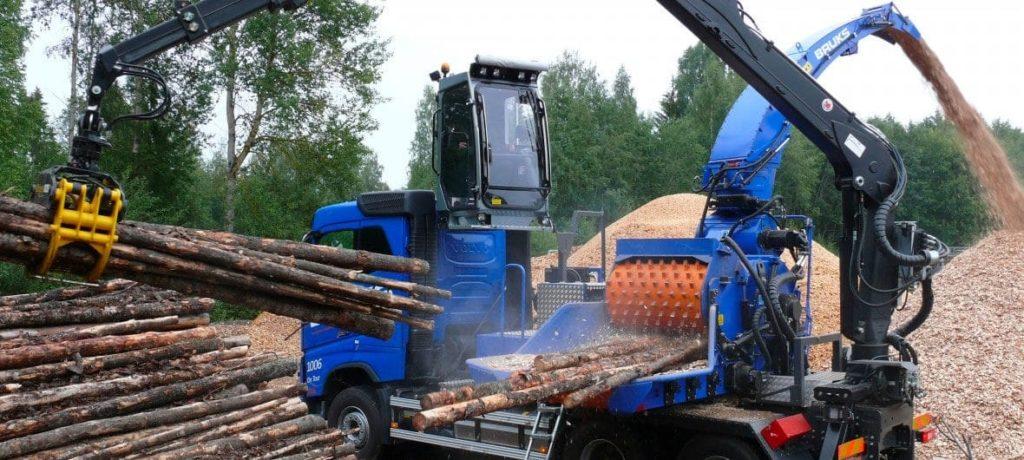 Astilladora Móvil Bruks 1006 PT Truck