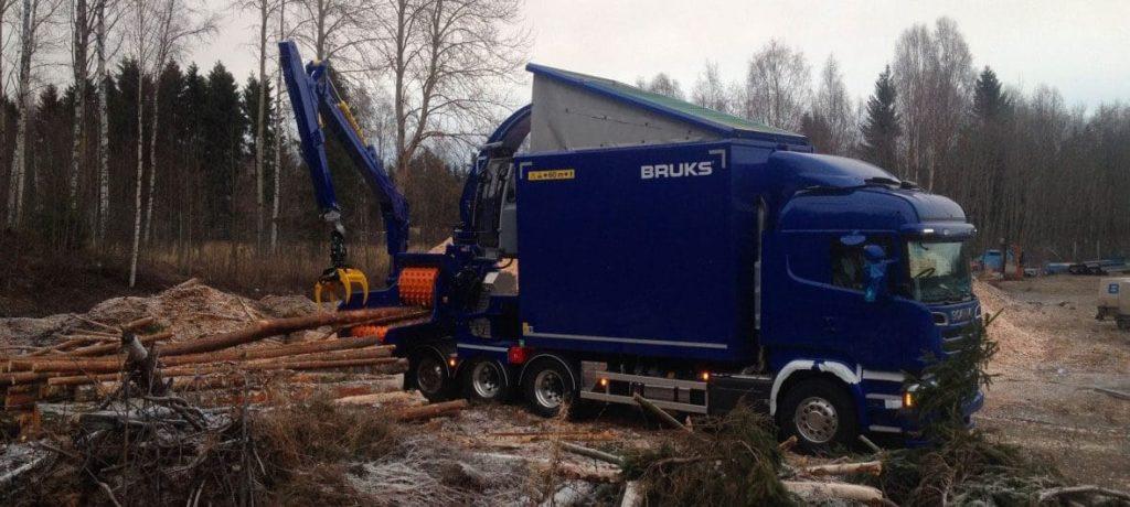 Astilladora móvil Bruks 806.2 PTC Truck
