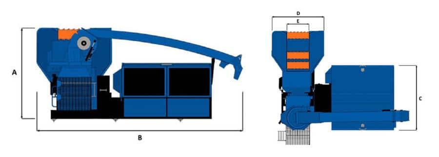 Astilladora móvil Bruks 806.2 ST planos